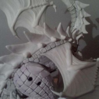 Plates run up the Dragon's back, and the skin from the wings attach to the body underneath them...