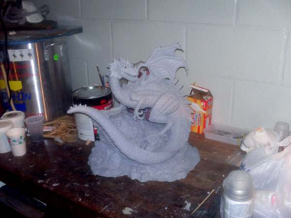 The Dragon is primed with paint especially made to bond with the type of material it is made of.