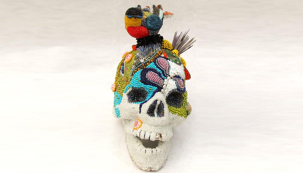 Beaded-Skull