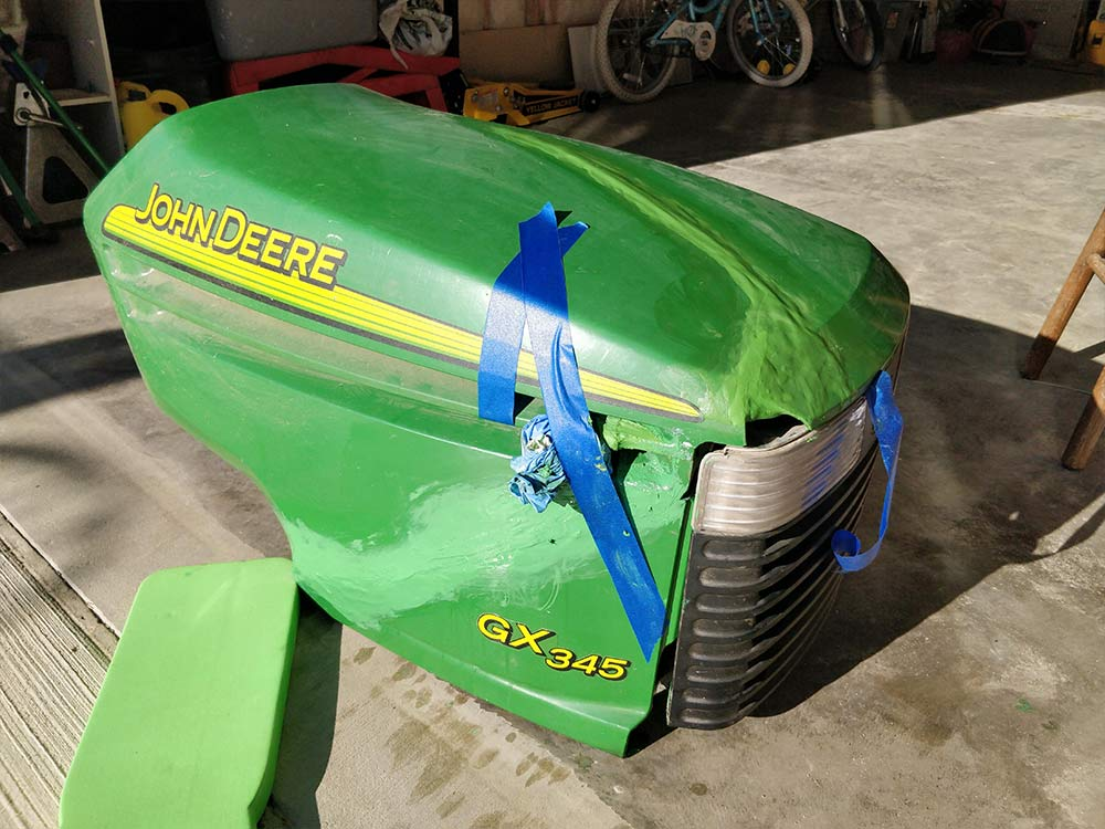 John Deere Lawn Mower Hood Repair with Fixit! - Aves: Maker of Fine