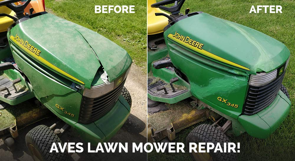 John Deere Lawn Mower Hood Repair With Fixit Aves Maker Of Fine Clays And Maches Apoxie Sculpt Epoxy Putty And More